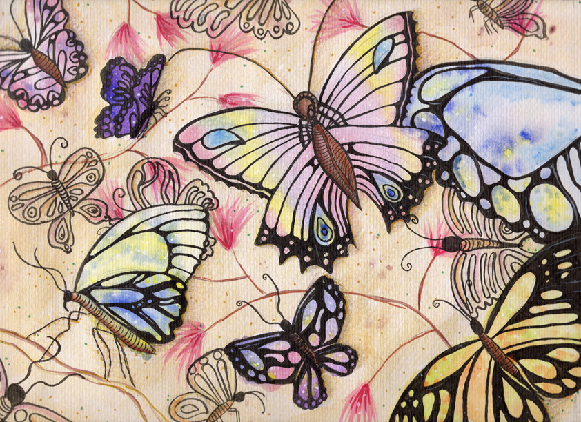 Butterfly Madness Original Illustration