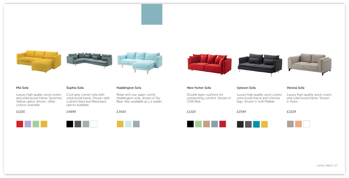 Living Room/Sofa Product Page