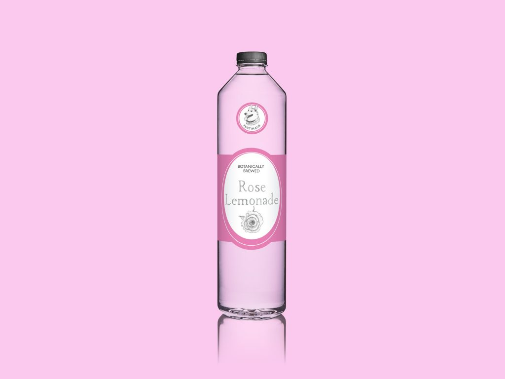 Rose Lemonade Bottle Label