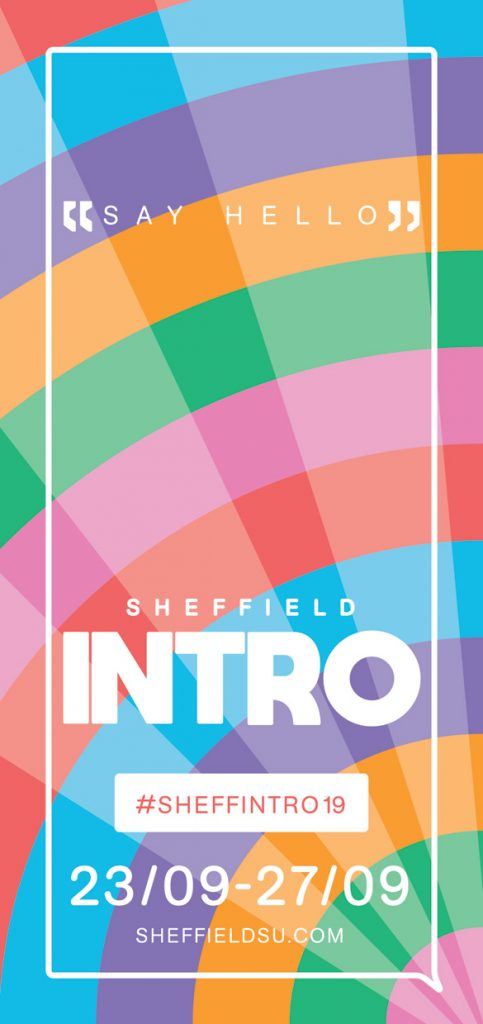 Leaflet, Sheffield Students' Union Intro Week 2019